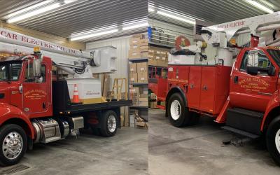 Boscar Introduces (2) New Ariel Trucks to It's Service Fleet.